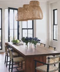 coastal lighting coastal style blog. Marvellous Rattan Vintage Dining Room Lighting Ideas Completed With Vases Flowers On Wooden Table And Furnished Coastal Style Blog