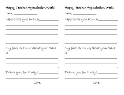 Letters For A Teacher Teacher Appreciation Week Letter