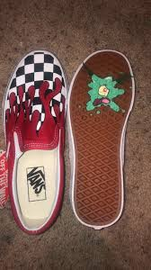 Cool Designs To Paint On Shoes Plankton Stepped On Custom Painted Shoes Custom Vans