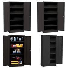 metal storage cabinet with lock. Metal Storage Cabinet Steel Locking With Doors Lock Garage Shop 72\ Z
