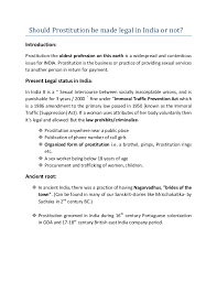 essays on prostitution should be legal should prostitution be legalized essay example 858 words