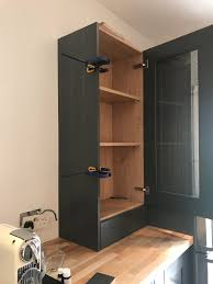 wall dresser with end panel from diy kitchens
