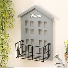 storage shelf hooks wood organiser