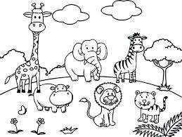 Cute Coloring Pictures Of Animals Pages For Kids To Print Really