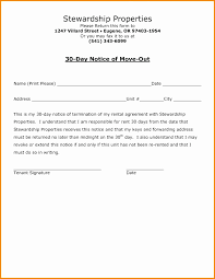 30 day move out notice template unique 6 day notice letter template 30 to vacate tenant