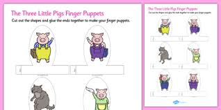 The Three Little Pigs Finger Puppets Finger Puppets Pigs