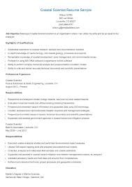 Coastal Engineer Sample Resume Haadyaooverbayresort Com