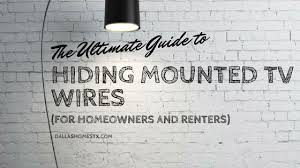 hiding mounted tv wires