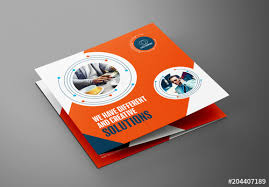 Buy Brochure Templates Square Trifold Brochure Layout Buy This Stock Template And