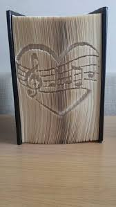 heart mere mark cut and fold book folding pattern available