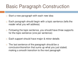 basic five paragraph essay  5 basic paragraph construction