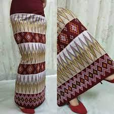Brown Diamond Striped Mizo Dress - Mizofashion