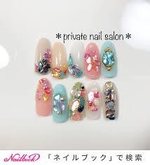 夏ハンドネイルチップ Private Nail Salonのネイルデザインno