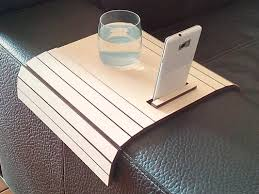 Couch Tray Table Laser Cut Wood Sofa Arm Tabletv Tray With Standsofa Arm Trayarm