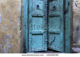 old door at the city of the ancient city of varanasi india