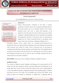 Pdf A Study Of The Standard Tool For Prakriti Assessment In