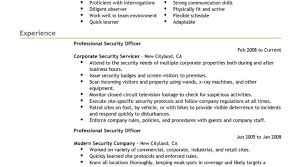 Marvelous Sample Of Security Guard Resume With Security Guard Cv