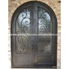 china hot s iron front door with dual paned tempered glass