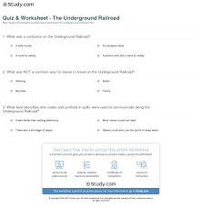 underground railroad essay harriet tubman underground railroad  quiz worksheet the underground railroad com print what was the underground railroad history facts route worksheet