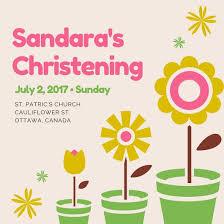 Customize 149 Christening Invitation Templates Online Canva