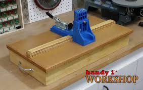 Ana White  DIY Kreg Jig Storage Base  Featuring Handy 1u0027s  DIY Kreg Jig Bench Plans