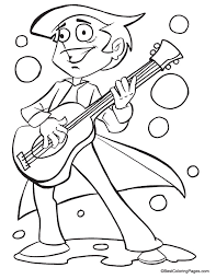 Small Picture Guitar coloring page coloring pages Pinterest Guitars