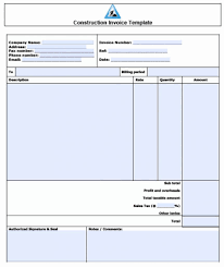 Sample Work Invoice Free Excelce Templates Smartsheet Construction Work Template