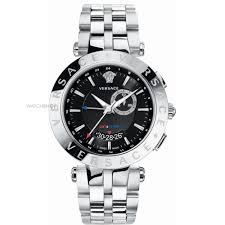 """men s versace v race gmt alarm watch 29g99d009s099 watch shop comâ""""¢ mens versace v race gmt alarm watch 29g99d009s099"""