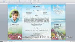 Plain Funeral Program Template A 2 Free Download Mac At Sokobanjs