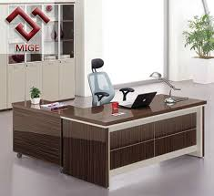 ... Wood Office Table Stunning Contemporary Executive Design  3