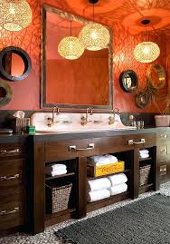 bathrooms that beat the winter blues with a splash of color view in gallery pendant lights
