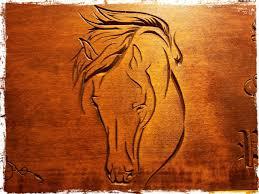 imagenes para tallar: dibujo de caballo