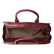 Michael Kors Selma Zip Quilt medium Satchel Claret Leather  Handbags   Amazon.com
