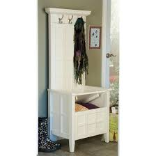 Image of: Classic hall tree storage bench