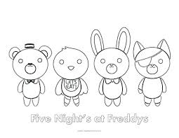 Fnaf Coloring Pages Free Mybellabe
