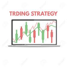 Chart Advisor Candlestick Chart Trade Advisor Concept Vector Illustration