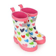Hatley Girls Rainbow Hearts Rain Boots Rain Boots