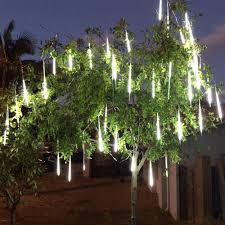 8 Ống Đèn LED Trang Trí Ngoài Trời Hiệu Ứng Mưa Rơi, Sao Băng - Chống Thấm  Nước, Dài 30 - 80cm - Đèn trang trí Thương hiệu OEM