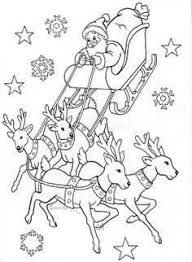 Santa Claus On His Sleigh Coloring Pages Best Of Printable Santa And