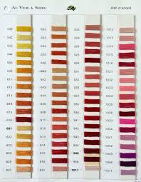 Soie D Alger Colour Chart D Alger 5m Skeins 0100 0500