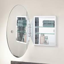 Oval Mirror Medicine Cabinet Taussig Recessed Mount Oval Medicine Cabinet Bathroom