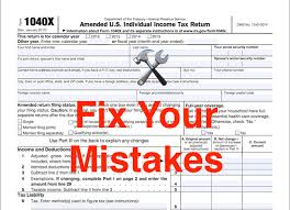 Irs Tax Refund Chart 2015 How To Fix Your Mistakes By Filing An Amended Tax Return