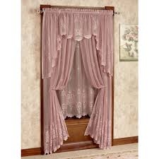 Victorian window treatments Curved Wall Cameo Rose Tailored Curtain Panel Victorian Rose Touch Of Class Cameo Rose Victorian Rose Lace Window Treatment