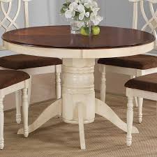 dining room table two tone painted oval google search pertaining to pedestal with leaf idea