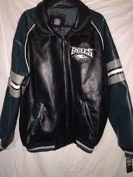 philadelphia eagles faux leather jacket sewn eagles logo xl new nwt 1833101585