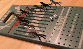 Wooden Horse Racing Dice Game Horse Race Game Wood Horse Race Game Kentucky Derby Wooden 12
