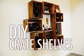 DIY Wood Crate Shelves - YouTube - HD Wallpapers