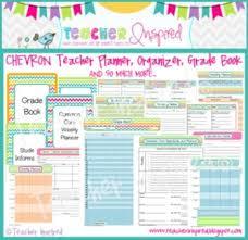 Teacher Organizer Planner Chevron Teacher Planner Grade Book And Organizer Teacher