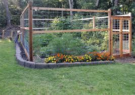 an animal proof garden fence