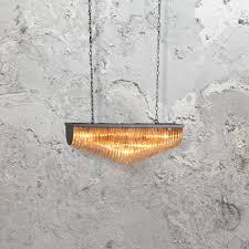 amber murano glass chandelier